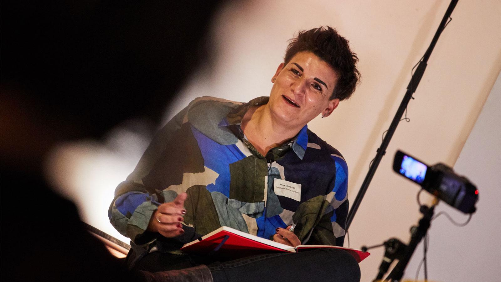 At the ALL IN Symposium. Anna Consolati speaks. ©Anna Spindelndreier